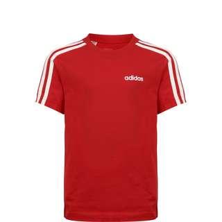 adidas Essential 3 Stripes T-Shirt Kinder rot / weiß