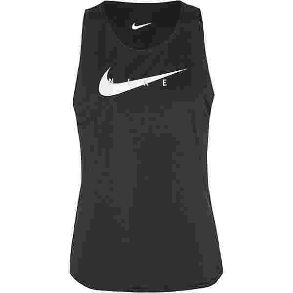 Nike Swoosh Funktionstank Damen black-reflective silv