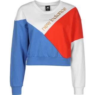 NEW BALANCE WT03504 Sweatshirt Damen weiß/blau/rot
