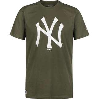 New Era MLB Team Logo NY Yankees T-Shirt Herren oliv