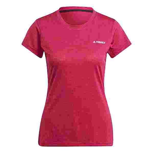 adidas TERREX Tivid T-Shirt T-Shirt Damen Power Berry / White