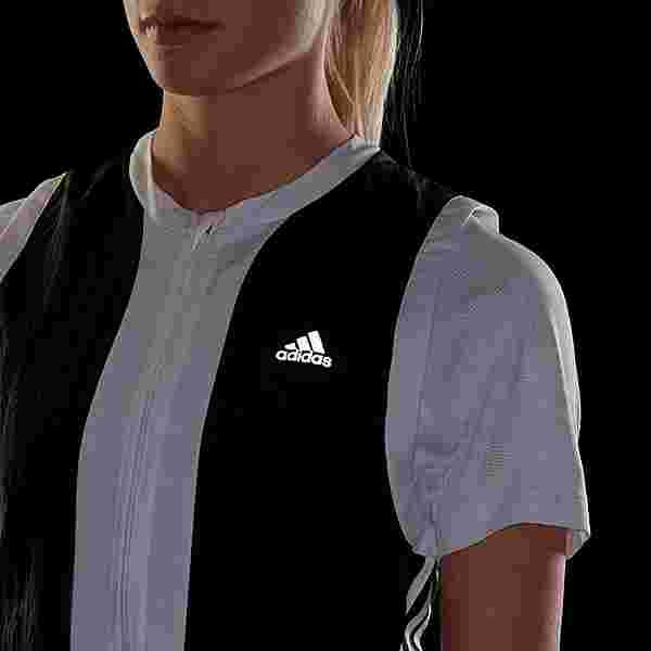 adidas Own The Run 3-Streifen Weste Outdoorweste Damen Black / White