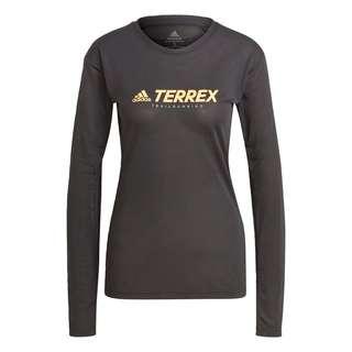 adidas TERREX Primeblue Trail Longsleeve Langarmshirt Damen Schwarz
