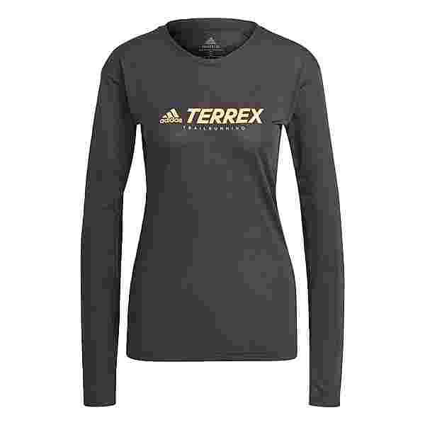 adidas TERREX Primeblue Trail Longsleeve Funktionsshirt Damen Schwarz