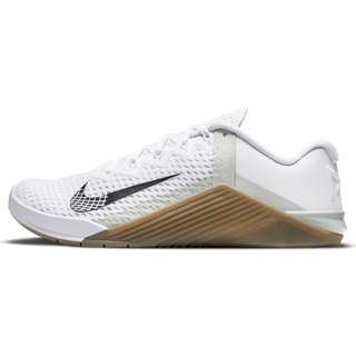Nike METCON 6 Fitnessschuhe Herren white-black-gum dk brown-grey fog-white