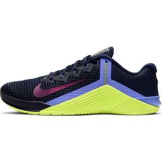Nike METCON 6 Fitnessschuhe Damen blackened blue-red plum-cyber-sapphire