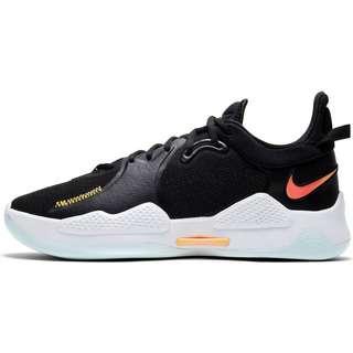 Nike PG 5 Basketballschuhe Herren black-multi-color-white-barely green