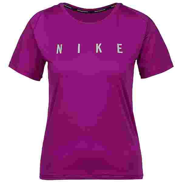 Nike Miler Run Division Funktionsshirt Damen red plum-reflective silv