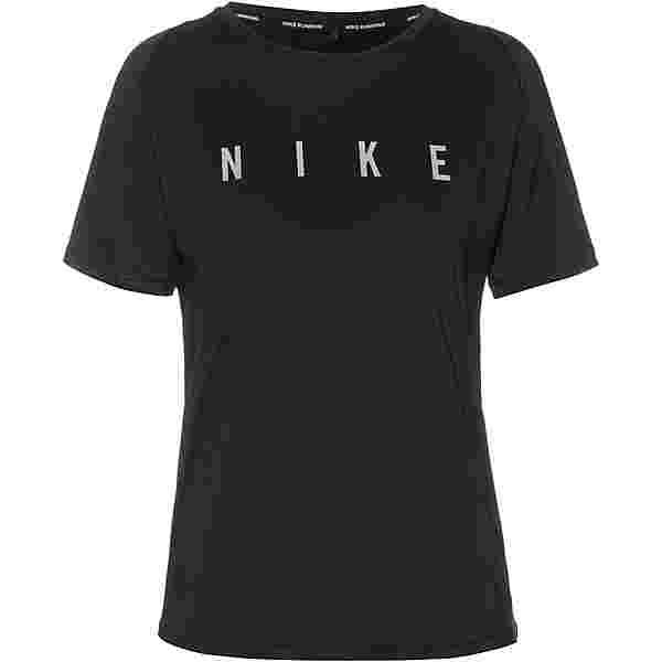 Nike Miler Run Division Funktionsshirt Damen black-reflective silv