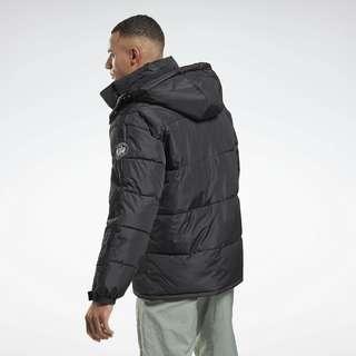 Reebok Winter Puffer Jacket Trainingsjacke Herren Schwarz