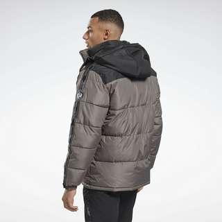 Reebok Winter Puffer Jacket Trainingsjacke Herren Black / Grey