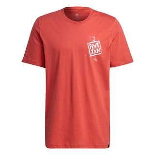 adidas Five Ten Stealth Cat Graphic T-Shirt T-Shirt Herren Rot