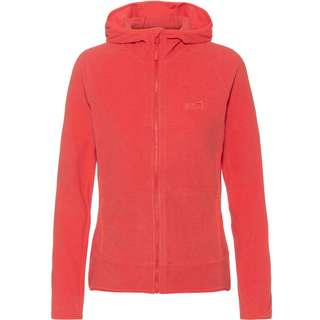 Jack Wolfskin ARCO Fleecejacke Damen tulip red stripes