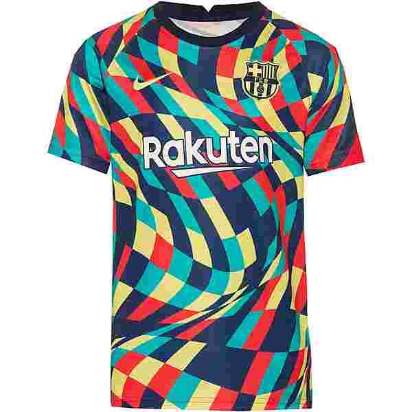 Nike FC Barcelona Funktionsshirt Kinder blue void-blue void-limelight