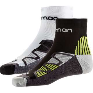 Salomon HAWK XT 2ER PACK Laufsocken black-yellow white-black