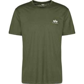 Alpha Industries Basic Small Logo T-Shirt Herren oliv