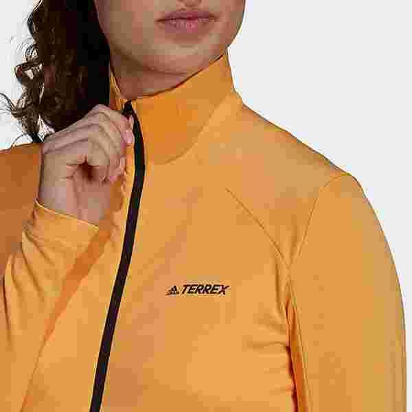 adidas TERREX Multi Primegreen Full-Zip Jacke Fleecejacke Damen Orange