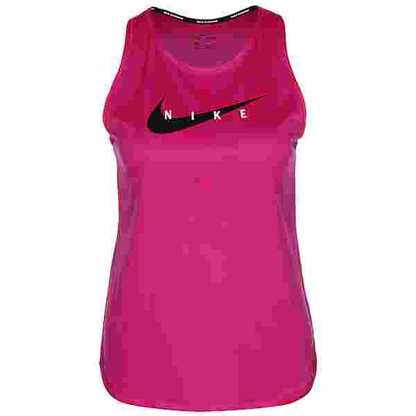 Nike Swoosh Funktionstank Damen fireberry-reflective silv