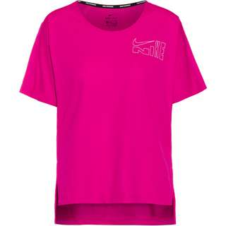 Nike City Sleek Funktionsshirt Damen fireberry-white