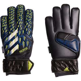 adidas Predator Fingersave Torwarthandschuhe Kinder black-team royal blue-solar yellow-white