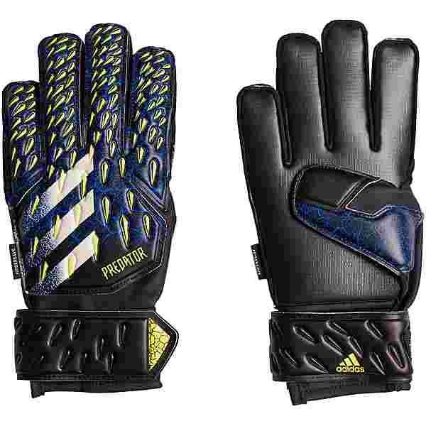 adidas Predator Fingersave Torwarthandschuhe Kinder black-team royal blue-solar yellow-white
