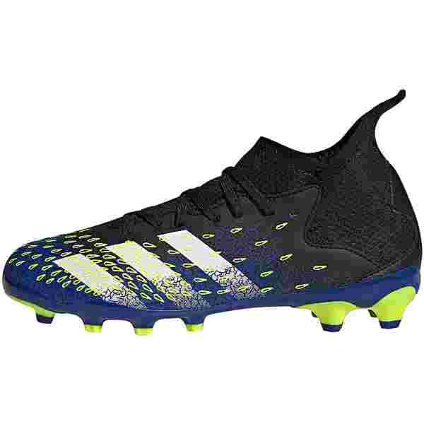 adidas PREDATOR FREAK .3 MG J Fußballschuhe Kinder core black-ftwr white-solar yellow