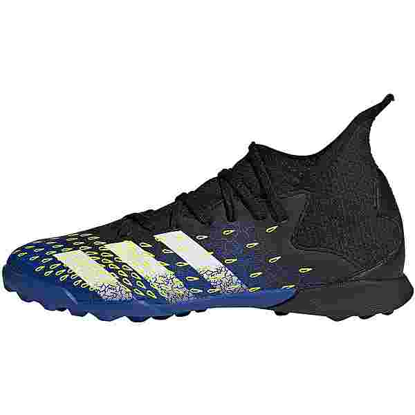 adidas PREDATOR FREAK .3 TF J Fußballschuhe Kinder core black-ftwr white-solar yellow