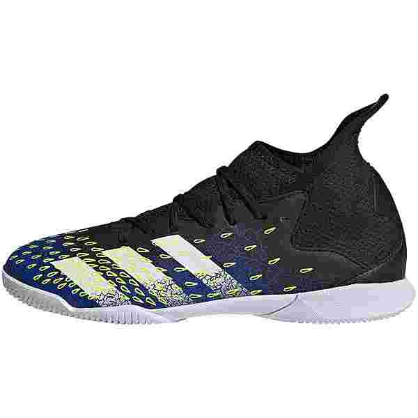 adidas PREDATOR FREAK .3 IN J Fußballschuhe Kinder core black-ftwr white-team royal blue