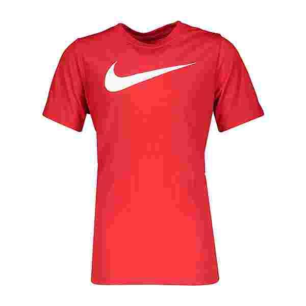 Nike Park 20 Swoosh T-Shirt Kids Funktionsshirt Kinder rotweiss