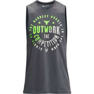 Under Armour Project Rock Tanktop Herren pitch gray-onyx white