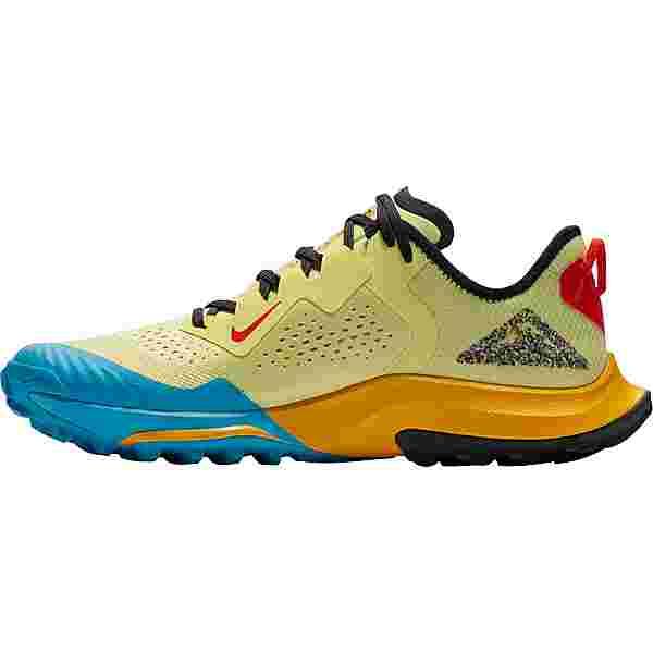 Nike AIR ZOOM TERRA KIGER 7 Laufschuhe Herren limelight-off noir-laser blue-dk sulfur-chile red