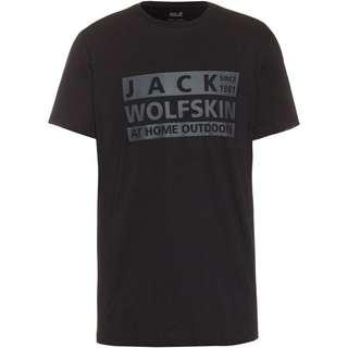 Jack Wolfskin BRAND T-Shirt Herren black