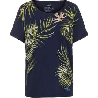 Jack Wolfskin TROPICAL LEAF T-Shirt Damen midnight blue