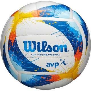 Wilson AVP SPLATTER Volleyball blue-yellow-white