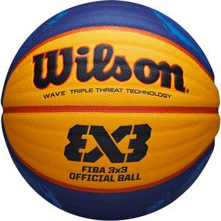 Wilson FIBA 3X3 GAME 2020 Basketball blue-yellow