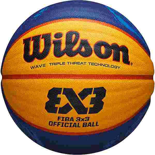 Wilson FIBA 3X3 GAME 2020 Basketball blue-yellow