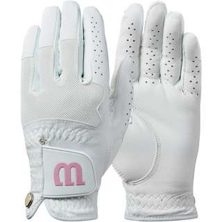 Wilson Advantage PK Leather Fingerhandschuhe Damen weiß