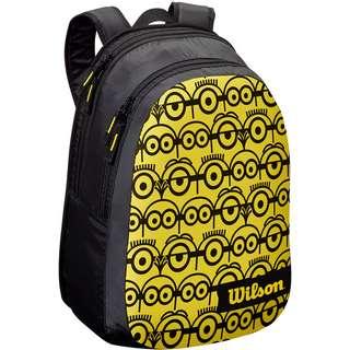 Wilson MINIONS JR Tennisrucksack Kinder black-yellow