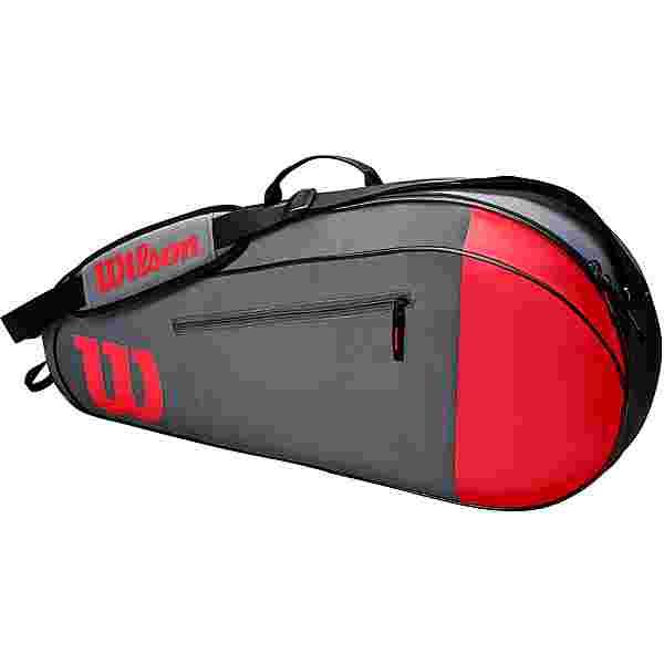 Wilson TEAM 3PK Tennistasche red-grey