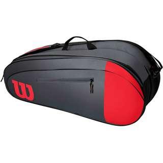 Wilson TEAM 6PK Tennistasche red-grey