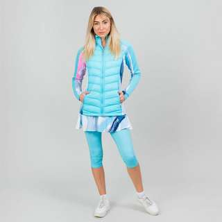 BIDI BADU Dania Tech Down Jacket Funktionsjacke Damen weiß/aqua