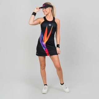 BIDI BADU Daria Tech Dress (2 In 1) Tenniskleid Damen schwarz/rot
