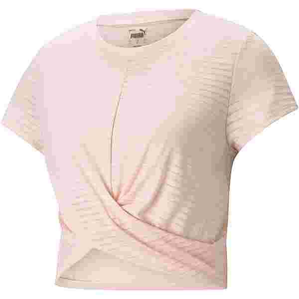 PUMA STUDIO TWIST BURNOUT Croptop Damen cloud pink-burn out print