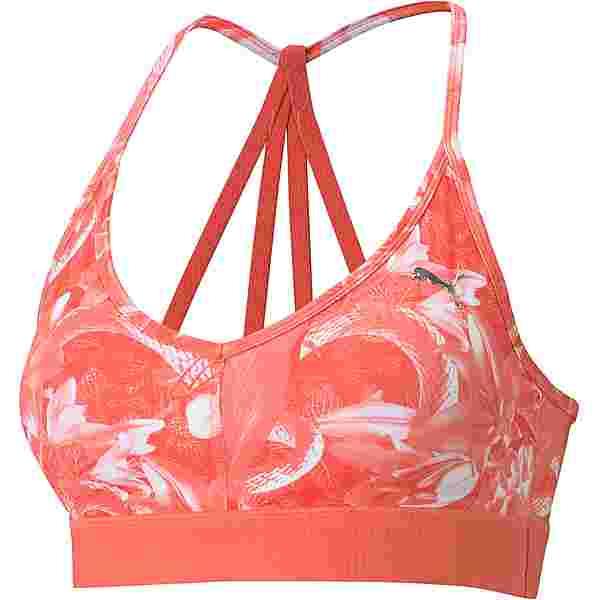 PUMA TRAIN UNTMD LOW IMPACT BH Damen georgia peach-fiery coral-floral print