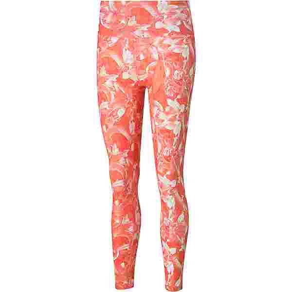 PUMA Train UNTMD AOP HW 7/8 Tights Damen georgia peach-fiery coral-floral print