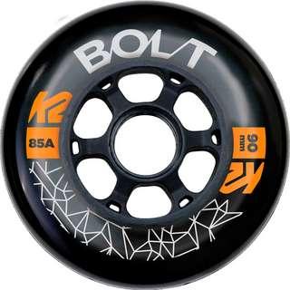 K2 BOLT 90 MM 85A 8-WHEEL PACK W ILQ 9 Inline-Skates schwarz-grau