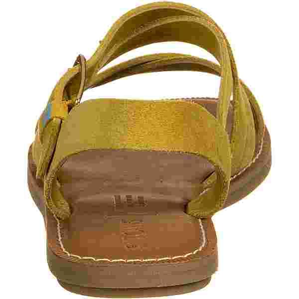 Toms Sicily Suede Sandalen Damen gelb