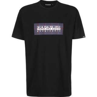 Napapijri Sox Check SS T-Shirt Herren schwarz