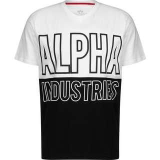 Alpha Industries Block T-Shirt Herren weiß