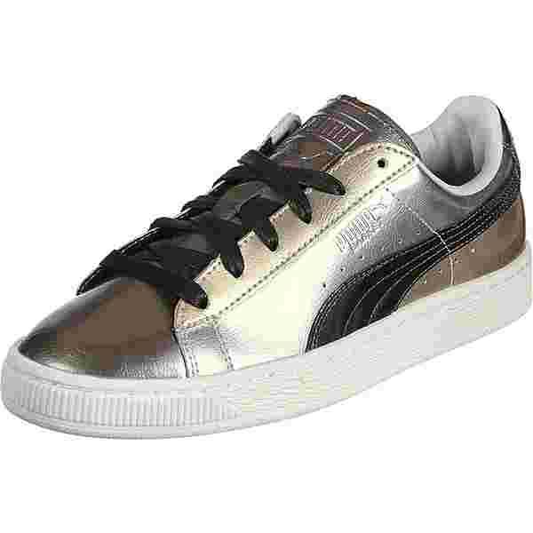 PUMA Basket Broken Bauble FM Sneaker gold/silber/kupfer